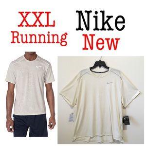 Nike men XXL Miler Runner dry fit t shirt jacquard
